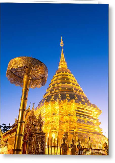 Wat Phra Doi Suthep - Chiang Mai - Thailand Greeting Card by Matteo Colombo