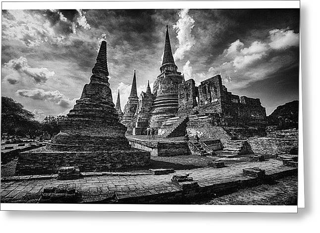 Wat Phra Si Sanphet In Ayutthaya Greeting Card