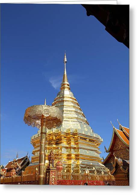 Wat Phrathat Doi Suthep - Chiang Mai Thailand - 011314 Greeting Card by DC Photographer