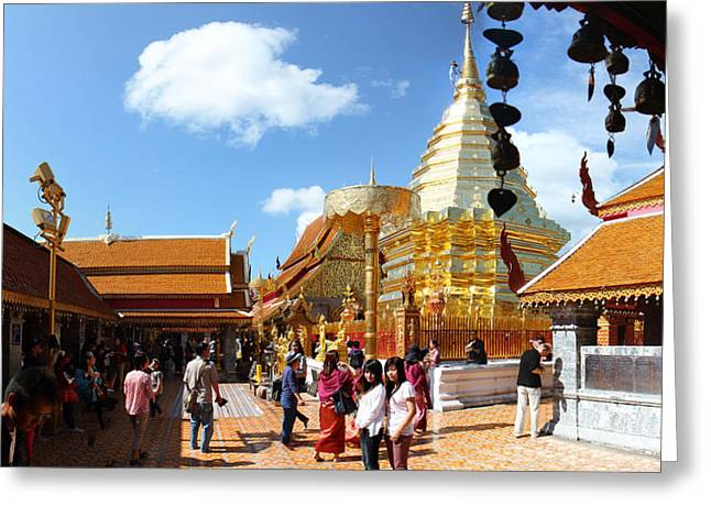 Wat Phrathat Doi Suthep - Chiang Mai Thailand - 011321 Greeting Card by DC Photographer