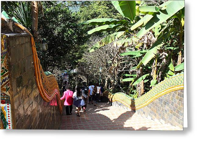 Wat Phrathat Doi Suthep - Chiang Mai Thailand - 01135 Greeting Card by DC Photographer