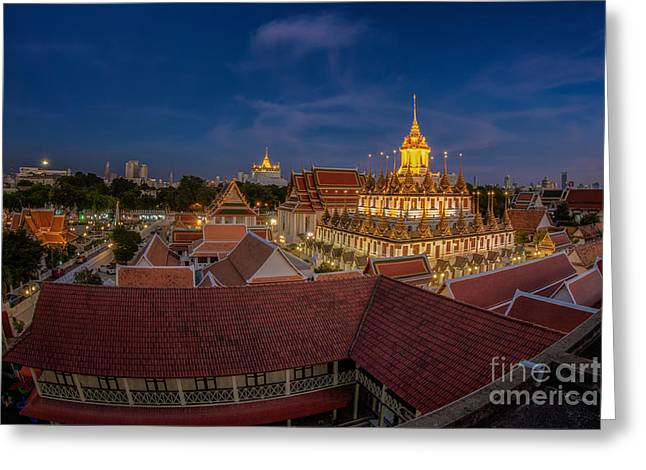 Wat Ratchanaddaram Greeting Card