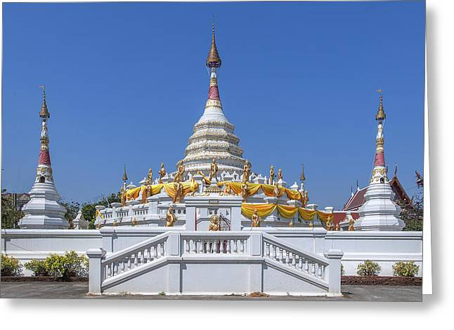 Wat Songtham Phra Chedi Dthb1915 Greeting Card