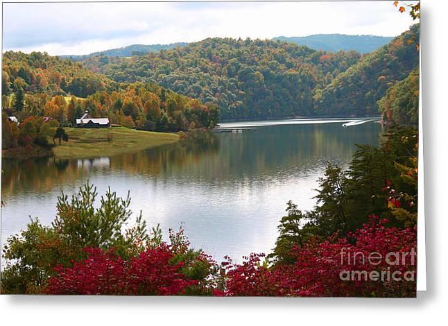Watauga Lake Autumn Greeting Card