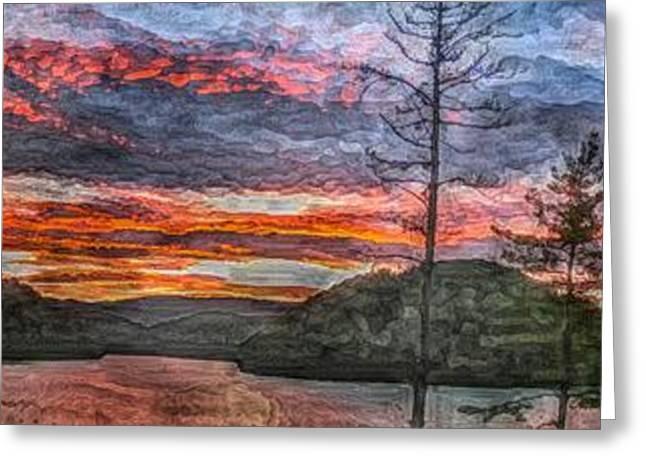Watauga Lake Sunset Greeting Card