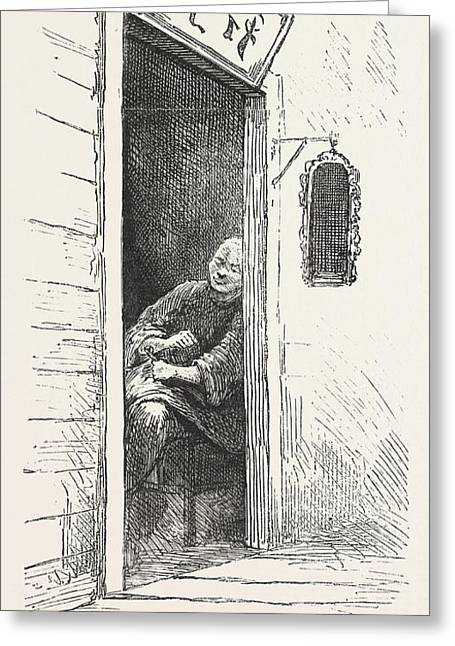 Watch Dog Of A Gambling Den, The Chinese Quarters, San Greeting Card by American School