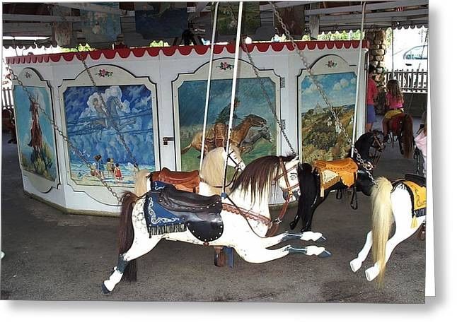Greeting Card featuring the photograph Watch Hill Merry Go Round by Barbara McDevitt