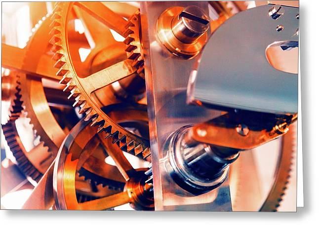 Watch Mechanism Greeting Card by Wladimir Bulgar