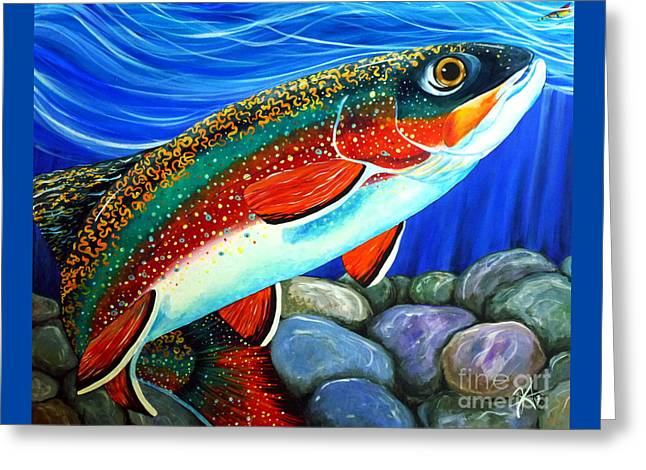 Brook Trout  Greeting Card by Jackie Carpenter