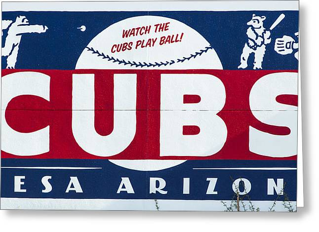 Watch The Cubs Greeting Card by Stephen Stookey