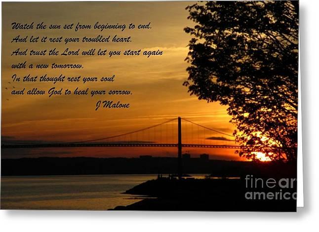 Watch The Sun Set Greeting Card