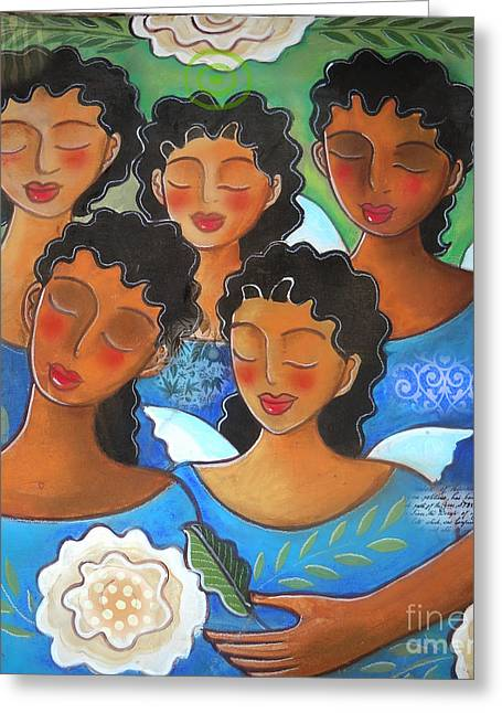 Watched By Angels Greeting Card by Elaine Jackson
