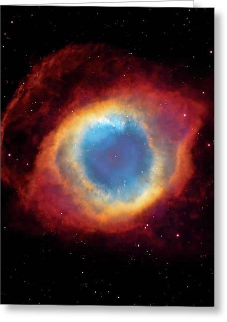 Watching - Helix Nebula Greeting Card by Jennifer Rondinelli Reilly - Fine Art Photography