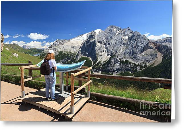 watching Marmolada mount Greeting Card