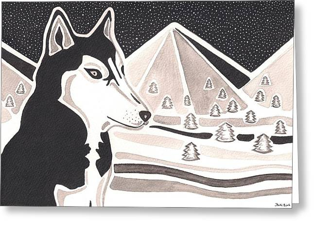 Watching Over The Wild Greeting Card by Heidi Bjork