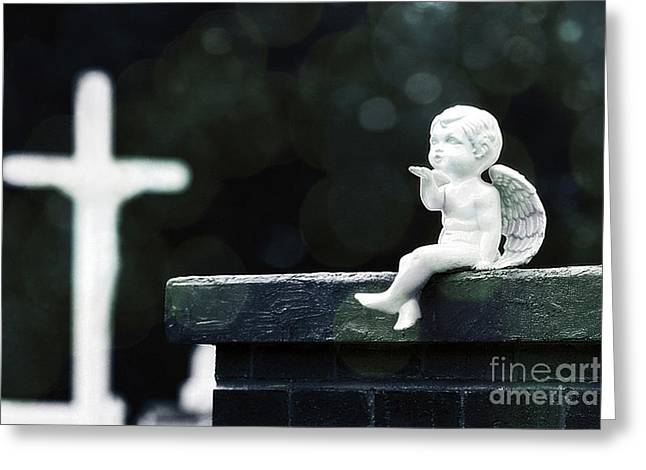 Watching Over Them Greeting Card by Trish Mistric