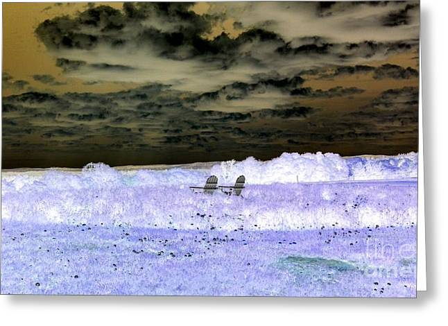 Watching The Clouds Roll By #4 Greeting Card