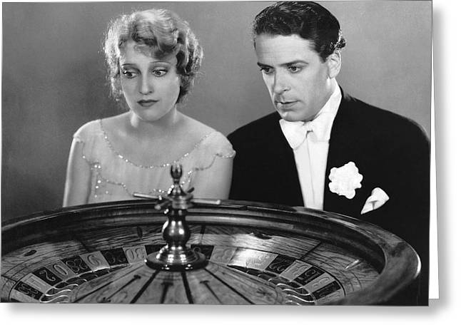 Watching The Roulette Wheel Greeting Card by Underwood Archives