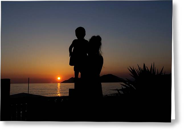 Watching The Sunset Greeting Card by Ivelin Donchev