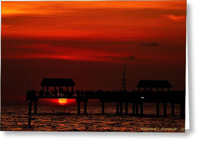 Greeting Card featuring the photograph Watching The Sunset by Richard Zentner