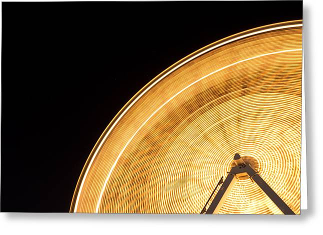 Watching The Wheel Go Round Greeting Card