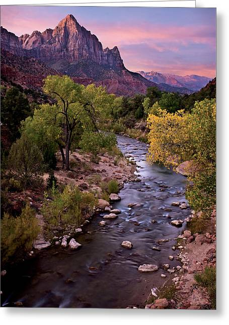 Watchman  Tower Zion Sunrise Greeting Card
