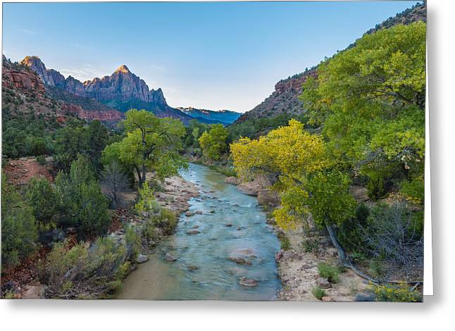 Watchman - Zion National Park - Ut Greeting Card