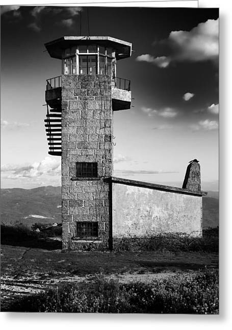 Watchtower Greeting Card by Marco Oliveira