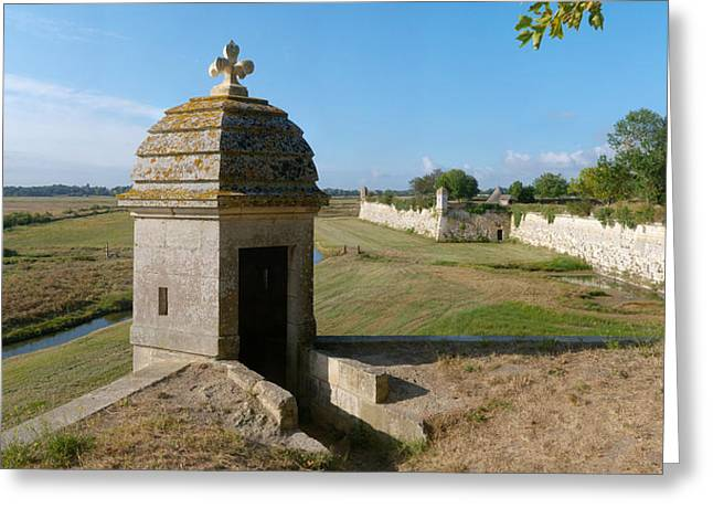 Watchtower Of Fortifications Of Vauban Greeting Card
