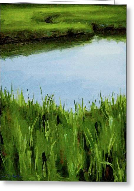 Water And Grass Swirl Greeting Card