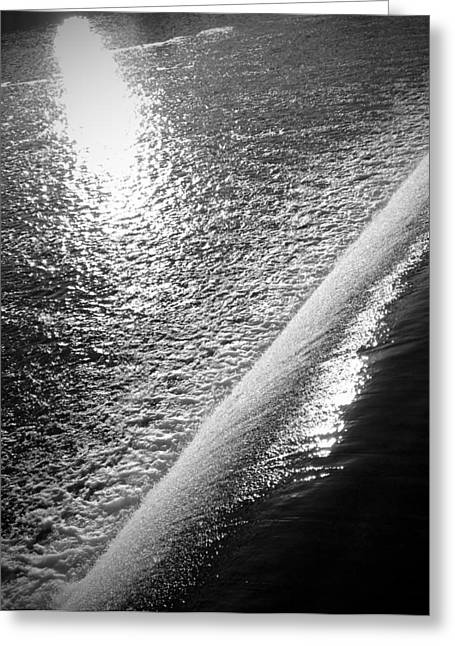 Greeting Card featuring the photograph Water And Light by Photographic Arts And Design Studio