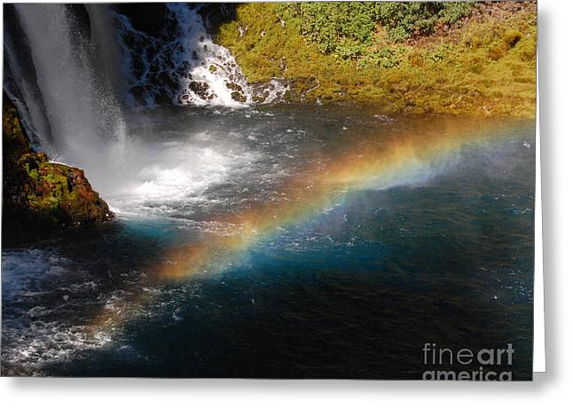 Greeting Card featuring the photograph Water And Rainbow by Debra Thompson