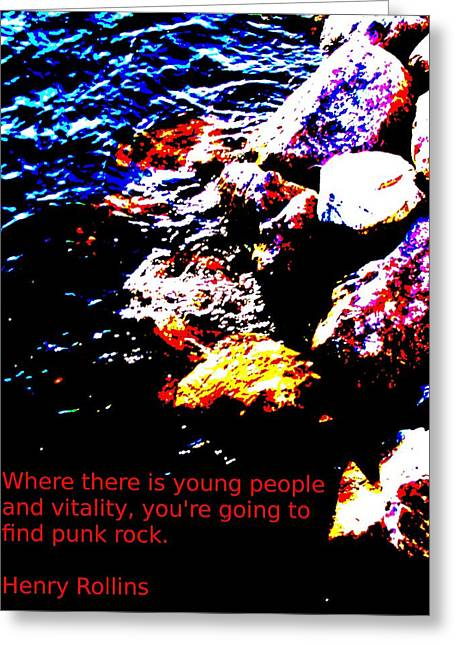 Water And Rock Greeting Card