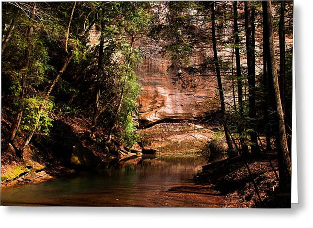 Greeting Card featuring the photograph Water And Sandstone by Haren Images- Kriss Haren