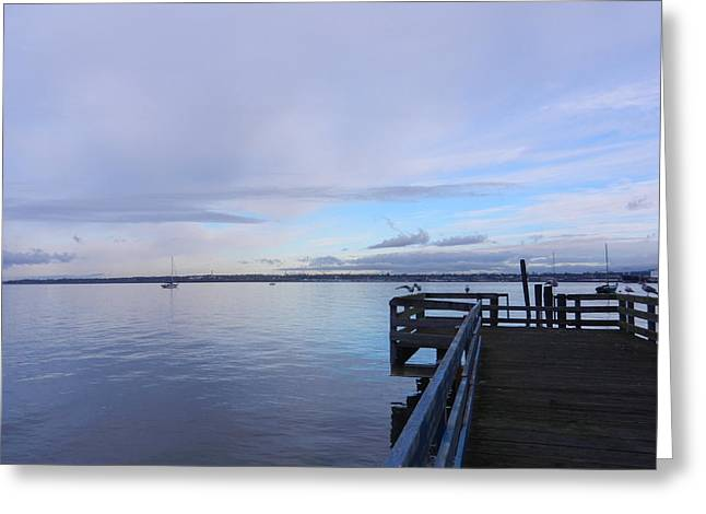 Greeting Card featuring the photograph Water And Sky Of Bellingham Bay by Karen Molenaar Terrell