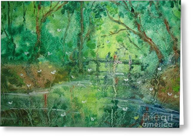 Water And Trees Greeting Card by Ivanhoe Ardiente