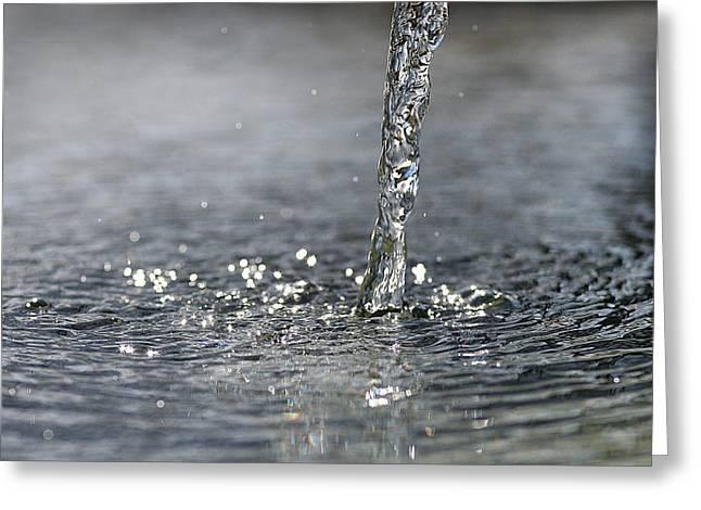 Water Beam Splashing Greeting Card