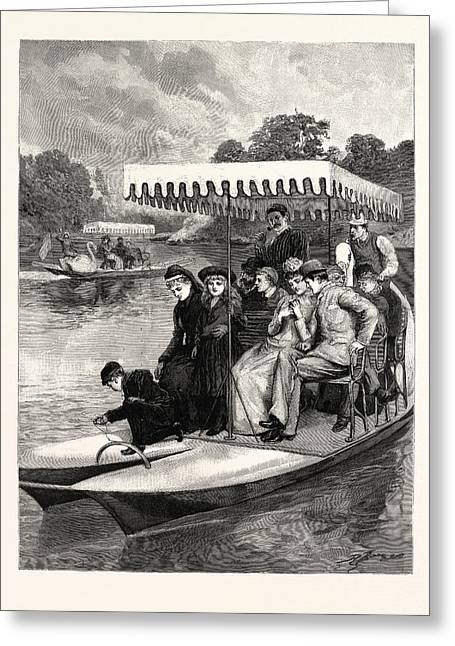 Water Bicycles On The Lake In The Central Park Greeting Card