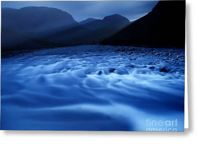 Water Blues Greeting Card