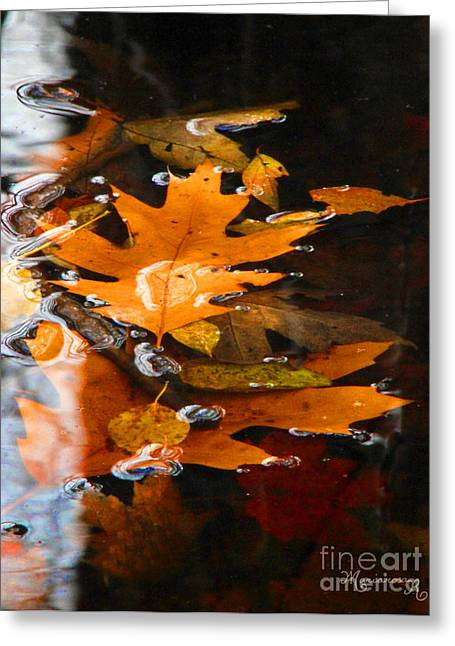 Water Bubbles Greeting Card by Mariarosa Rockefeller