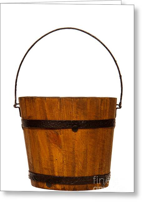 Water Bucket Greeting Card by Olivier Le Queinec
