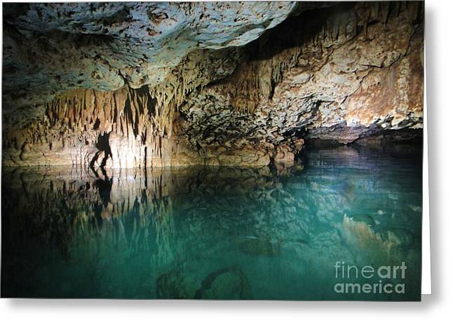 Water Cave Greeting Card