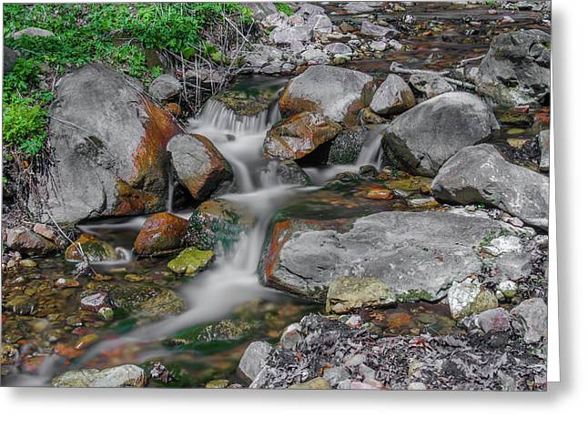 Water Coloured Rocks Greeting Card by Jonah  Anderson