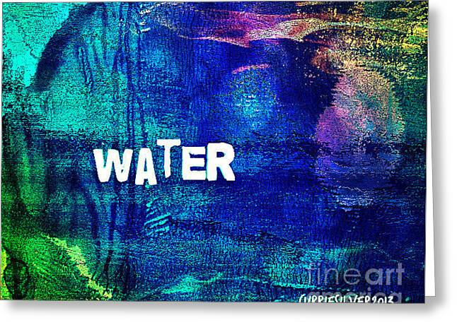 Water Greeting Card by Currie Silver