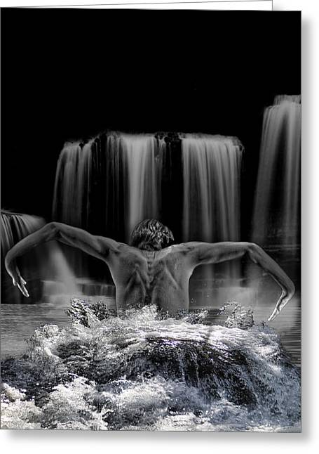 Water Dance Greeting Card