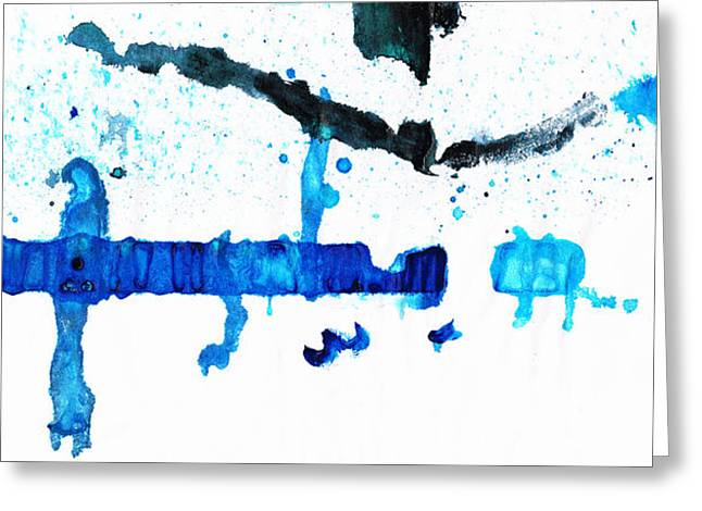 Water Dance - Blue And White Art By Sharon Cummings Greeting Card by Sharon Cummings