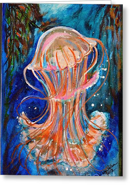 Water Dance Greeting Card by Valarie Pacheco