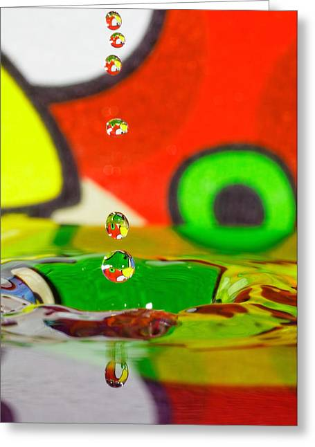 Greeting Card featuring the photograph Water Dew by Peter Lakomy