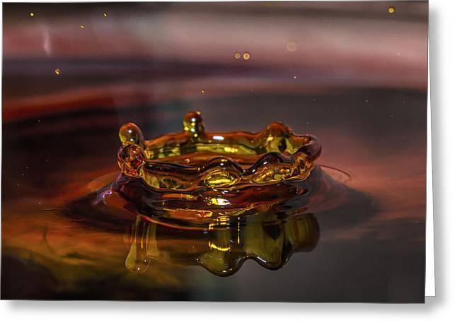 Water Drop Art Greeting Card
