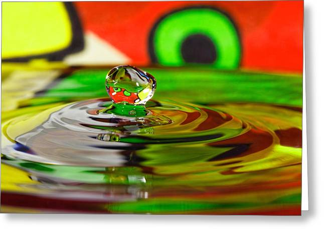 Greeting Card featuring the photograph Water Drop by Peter Lakomy